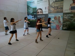 Practice in front of CaixaForum